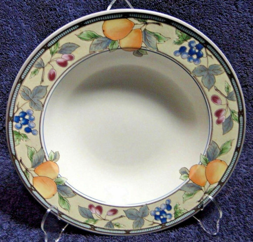"""Mikasa Garden Harvest Soup Bowls 9 1/2"""" CAC29 Rimmed Pasta 