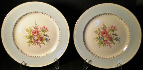 """Homer Laughlin Eggshell Georgian Chateau Blue Dinner Plates 10"""" Set 2   DR Vintage Dinnerware and Replacements"""