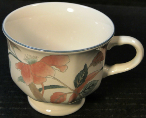 Mikasa Silk Flowers Footed Tea Cup F3003 | DR Vintage Dinnerware and Replacements