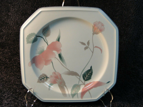 """Mikasa Silk Flowers Chop Plate 12 1/4"""" F3003 Octagonal Shape Platter 