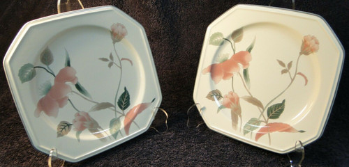 """Mikasa Silk Flowers Salad Plates 8 1/4"""" F3003 Set of 2 