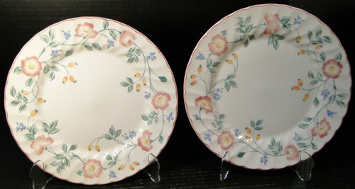 "Churchill Briar Rose Dinner Plates 10"" England Set of 2 