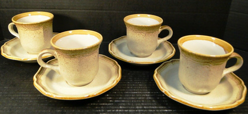 Mikasa Whole Wheat Tea Cup Saucer Sets E8000 4 | DR Vintage Dinnerware and Replacements