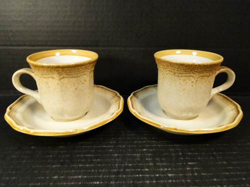 Mikasa Whole Wheat Tea Cup Saucer Sets E8000 2 | DR Vintage Dinnerware and Replacements