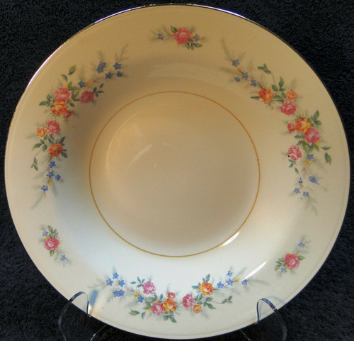 """Homer Laughlin Eggshell Nautilus Ferndale Soup Bowl 9 3/8"""" Salad 