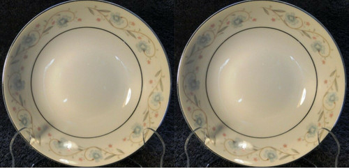 "Fine China of Japan English Garden Berry Bowls 5 1/2"" Fruit Dessert Set 2 