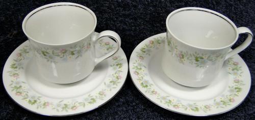 Johann Haviland Bavaria Forever Spring Tea Cup Saucer Sets 2 | DR Vintage Dinnerware and Replacements