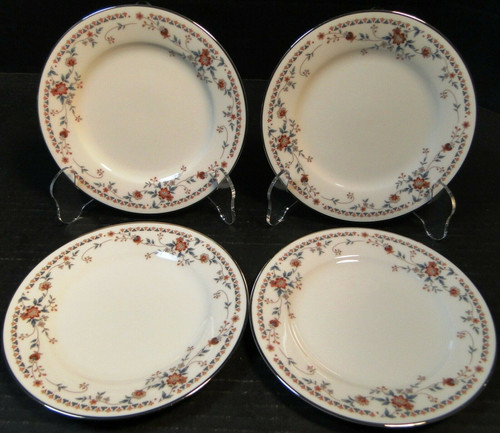 """Noritake Adagio Bread Plates 7237 6 3/8"""" Set of 4 