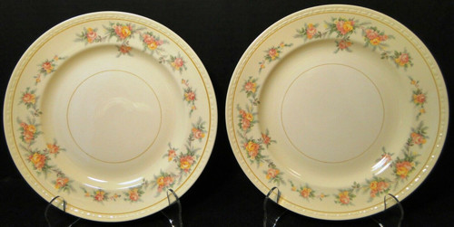 "Homer Laughlin Georgian G3370 Lunch Plates 9 1/4"" Rare Set of 2 