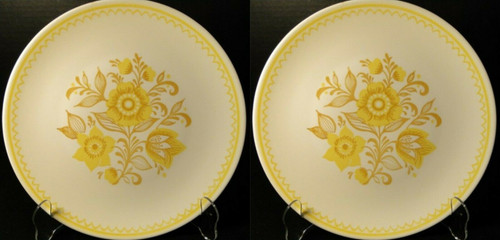 "Royal China Jubilee Dinner Plates 10 1/2"" Cavalier Ironstone Set of 2 