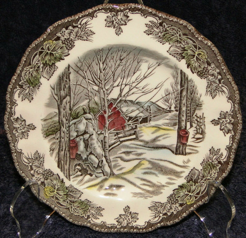 """Johnson Brothers Friendly Village Sugar Maples Bread Plate 6 1/8"""" 