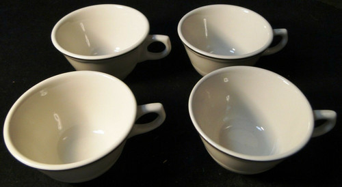 Syracuse Gourmet Tea Coffee Cups Vintage Restaurant Ware Set of 4 | DR Vintage Dinnerware and Replacements