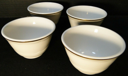 "Syracuse Gourmet Custard Cups 4"" Vintage Restaurant Ware Set of 4 