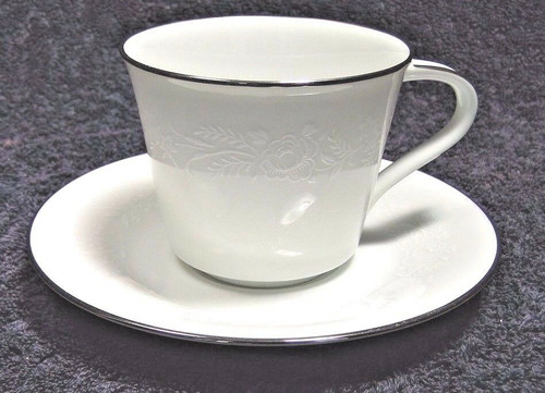 Noritake Reina 6450 Q Tea Cup and Saucer Set | DR Vintage Dinnerware Replacements