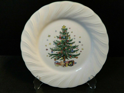"""Nikko Happy Holidays Dinner Plate 10 3/4"""" Christmas Tree Japan   DR Vintage Dinnerware and Replacements"""