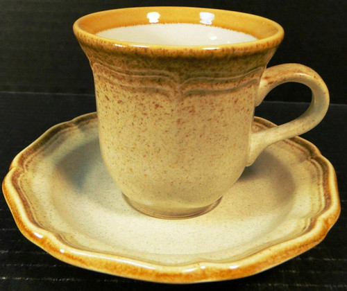 Mikasa Whole Wheat Tea Cup Saucer Set E8000 | DR Vintage Dinnerware and Replacements