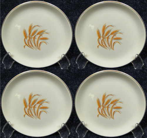 Homer Laughlin Golden Wheat Bread Plates Set of 4 | DR Vintage Dinnerware and Replacements