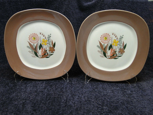 Taylor Smith Taylor Conversation Nassau Teague Dinner Plates Set of 2 | DR Vintage Dinnerware and Replacements