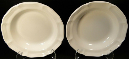 """Mikasa French Countryside Salad Plates 8"""" F9000 White Set of 2 