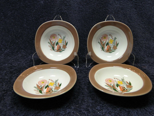 Taylor Smith Taylor Conversation Nassau Teague Berry Bowls Set of 4 | DR Vintage Dinnerware and Replacements