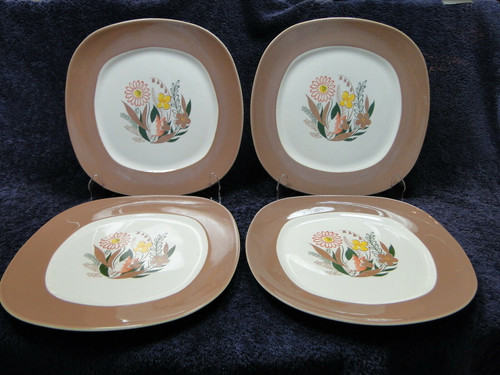 Taylor Smith Taylor Nassau Walter Teague Dinner Plates Set of 4 | DR Vintage Dinnerware and Replacements