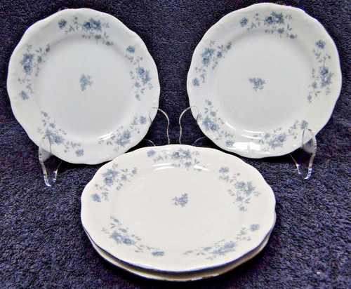"Johann Haviland Blue Garland Traditions Bread Plates 6 1/4"" Set of 4 