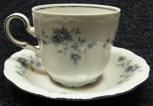 Johann Haviland Blue Garland Traditions Tea Cup Mug Saucer Set | DR Vintage Dinnerware and Replacements