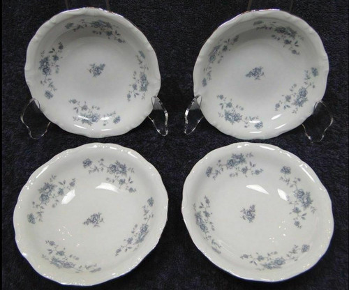 Johann Haviland Blue Garland Traditions Berry Bowls Fruit Set of 4 | DR Vintage Dinnerware and Replacements
