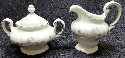 Johann Haviland Traditions Blue Garland Creamer Sugar Set | DR Vintage Dinnerware and Replacements