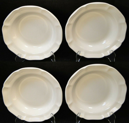 "Mikasa French Countryside Soup Bowls 8 1/2"" F9000 White Salad Set of 4 