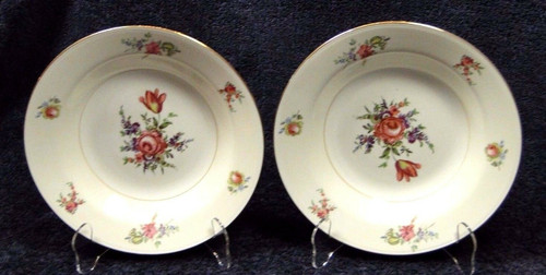 "Household Institute Priscilla Soup Bowls Nautilus 8 1/2"" Set of 2 