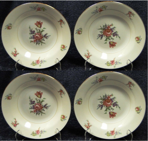 "Household Institute Priscilla Soup Bowls Nautilus 8 1/2"" Set of 4 