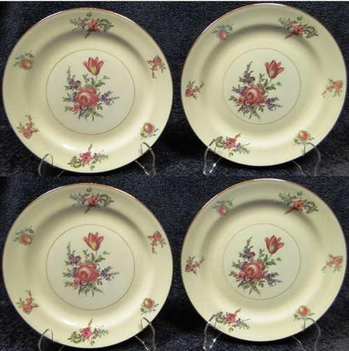"Household Institute Priscilla Salad Plates Nautilus 8"" Set of 4 