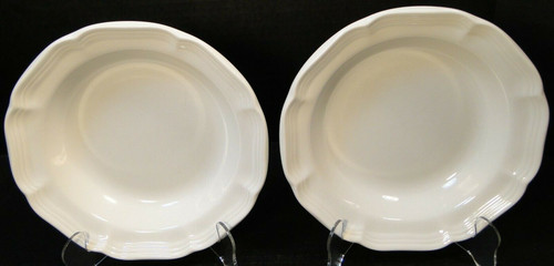 mikasa french countryside soup bowls F9000 white salad set of 2 | DR Vintage Dinnerware Replacements