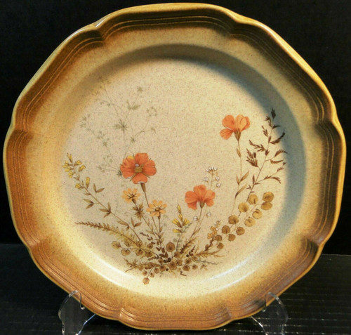"Mikasa Whole Wheat Jardiniere Dinner Plate 10 3/4"" E8016 