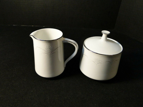 Noritake Casablanca Creamer Sugar bowl with lid Set 6127 | DR Vintage Dinnerware and Replacements