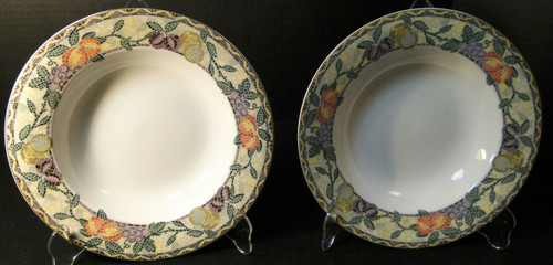 "Mikasa Ultima Plus Chelsea Court Soup Bowls 9 1/2"" HK704 Set of 2 