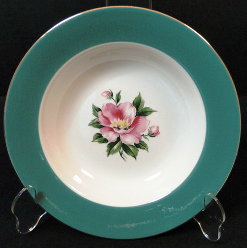 Homer Laughlin Century Service Empire Green Soup Bowl 8 1/4"