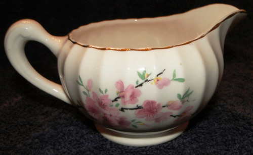 W S George Bolero Peach Blossom Creamer  | DR Vintage Dinnerware and Replacements