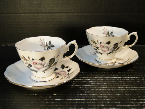 Royal Albert Queen's Messenger Tea Cup Saucer Sets 2 | DR Vintage Dinnerware and Replacements