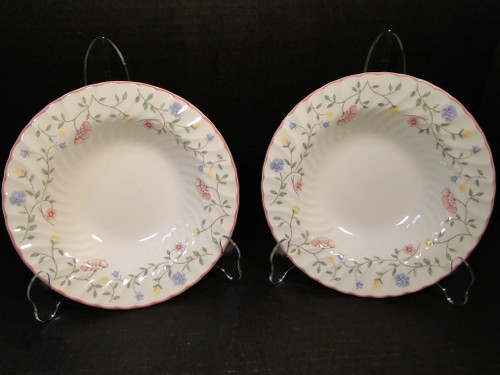 "Johnson Brothers Summer Chintz Rimmed Soup Bowls 8 1/2"" Set of 2 