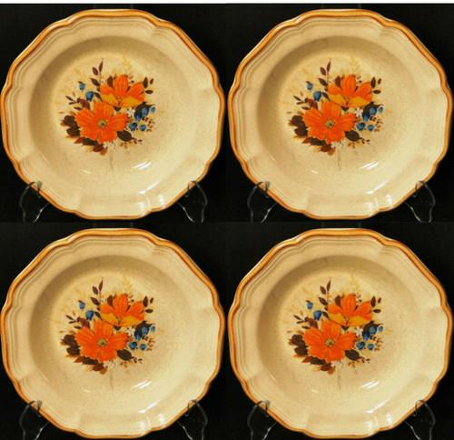 "Mikasa Flower Fest Soup Bowls 8 3/4"" EC 452 Garden Club Set of 4 | DR Vintage Dinnerware and Replacements"