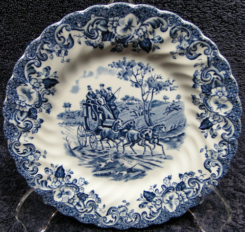 """Johnson Bros Coaching Scenes Bread Plate 6 1/4"""" England 