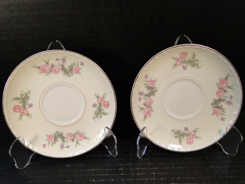 "Homer Laughlin Eggshell Georgian G3380 Saucers 6"" Ivory Set of 2 