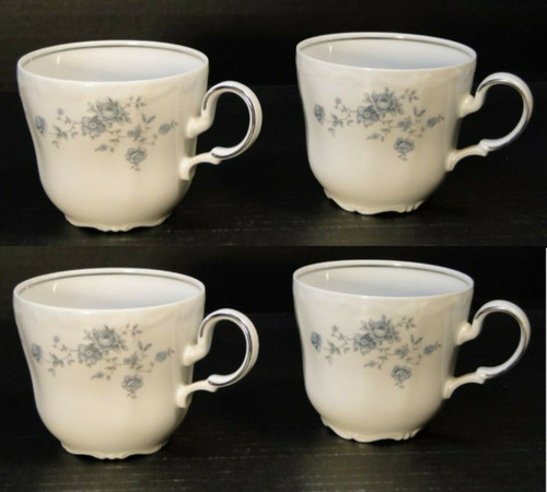 Johann Haviland Blue Garland Bavaria Cups Mugs Set of 4 | DR Vintage Dinnerware and Replacements