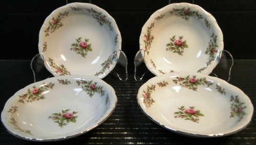 "Johann Haviland Traditions Moss Rose Berry Bowls 5"" Fruit Set of 4 