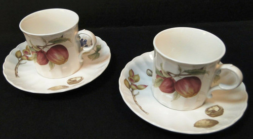 Mikasa Belle Terre Tea Cup Mug Saucer Sets CAJ05 Maxima Fruit 2 | DR Vintage Dinnerware and Replacements