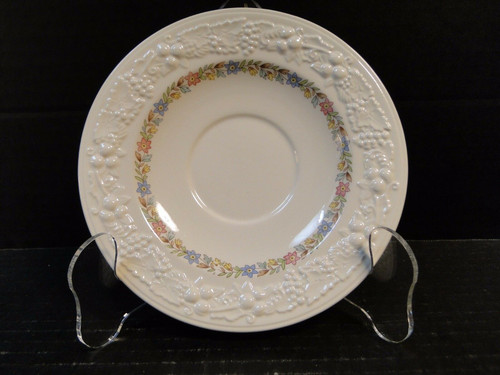 "Homer Laughlin Eggshell Theme Floral Rose Saucer 6"" TH20 