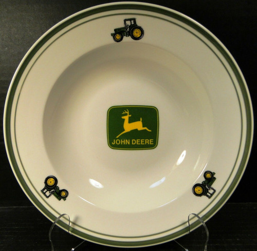 "Gibson John Deere Soup Bowl 9"" Salad Pasta Logo Tractor 