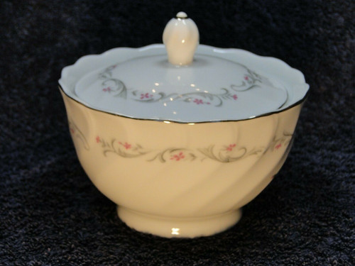 Fine China of Japan Royal Swirl Sugar Bowl with Lid | DR Vintage Dinnerware and Replacements